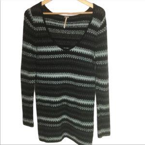 Free People Sweater Dress Size L Chevy Pattern